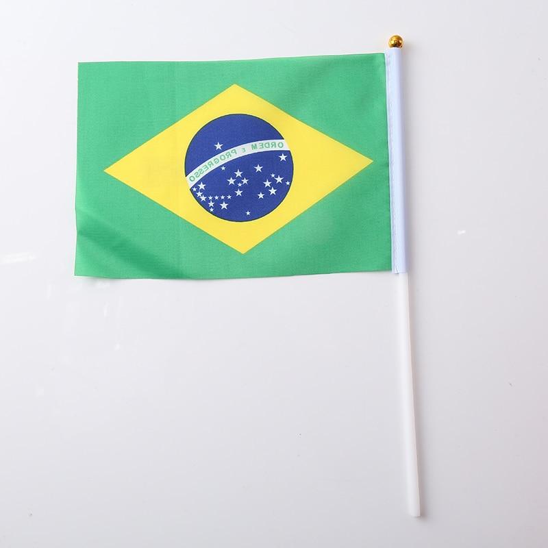 Терилен Мексиканский Флаг 30,5*21*0,5 см ручной Национальный флаг с принтом Австралийский флаг мода нейлон патриотические полосы - Цвет: Brazil