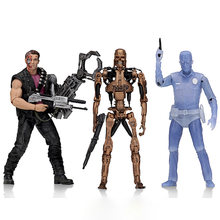 NECA Terminator 2 PVC Action Figure 7 Schaal Kenner Eerbetoon Power Arm T-800 Metalen Mash Endoskeleton Wit Hot T-1000 Figuur(China)