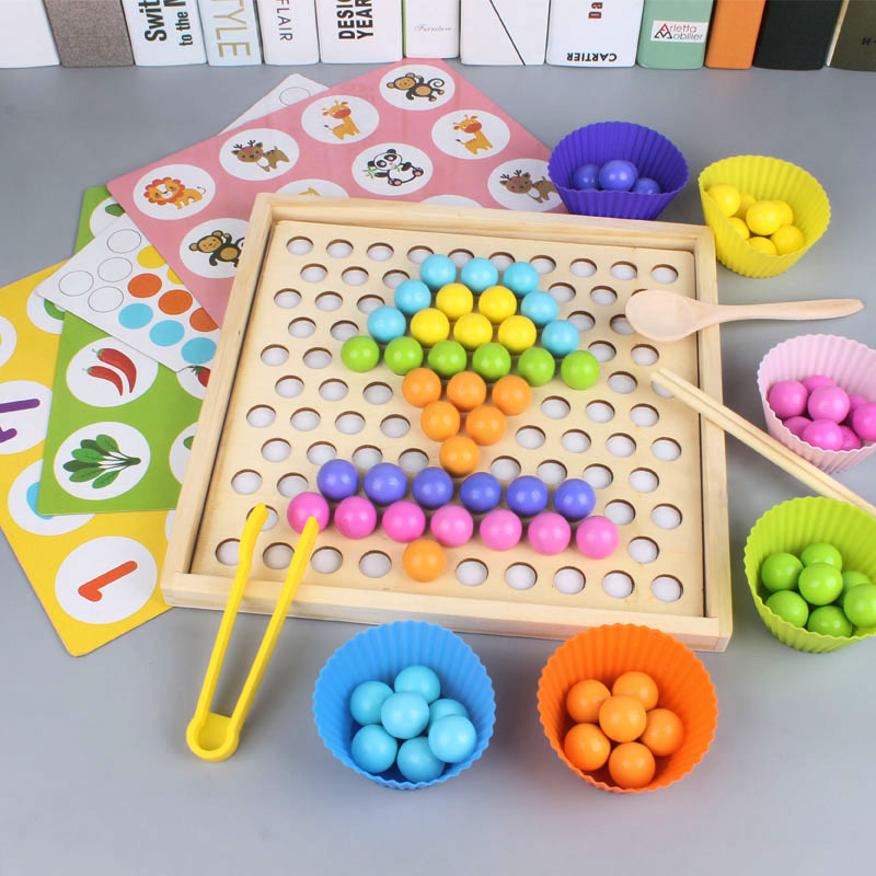 Children's Toys Train The Baby To Learn Chopsticks Beads Ball Beans 3-6 Years Old Puzzle Early Education Flying Chess Game
