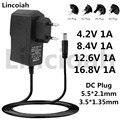 Lincoiah 4,2 V 8,4 V 12,6 V 16,8 V 1A 1000MA AC/DC Adapter Netzteil 4,2 8,4 12,6 16,8 V Volt ladegerät für 18650 lithium-batterie