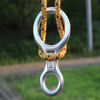 Outdoor aluminum alloy climbing 8 word loop 30KN lifting ring descender rope ring equipment rigging rappelling equipment 3
