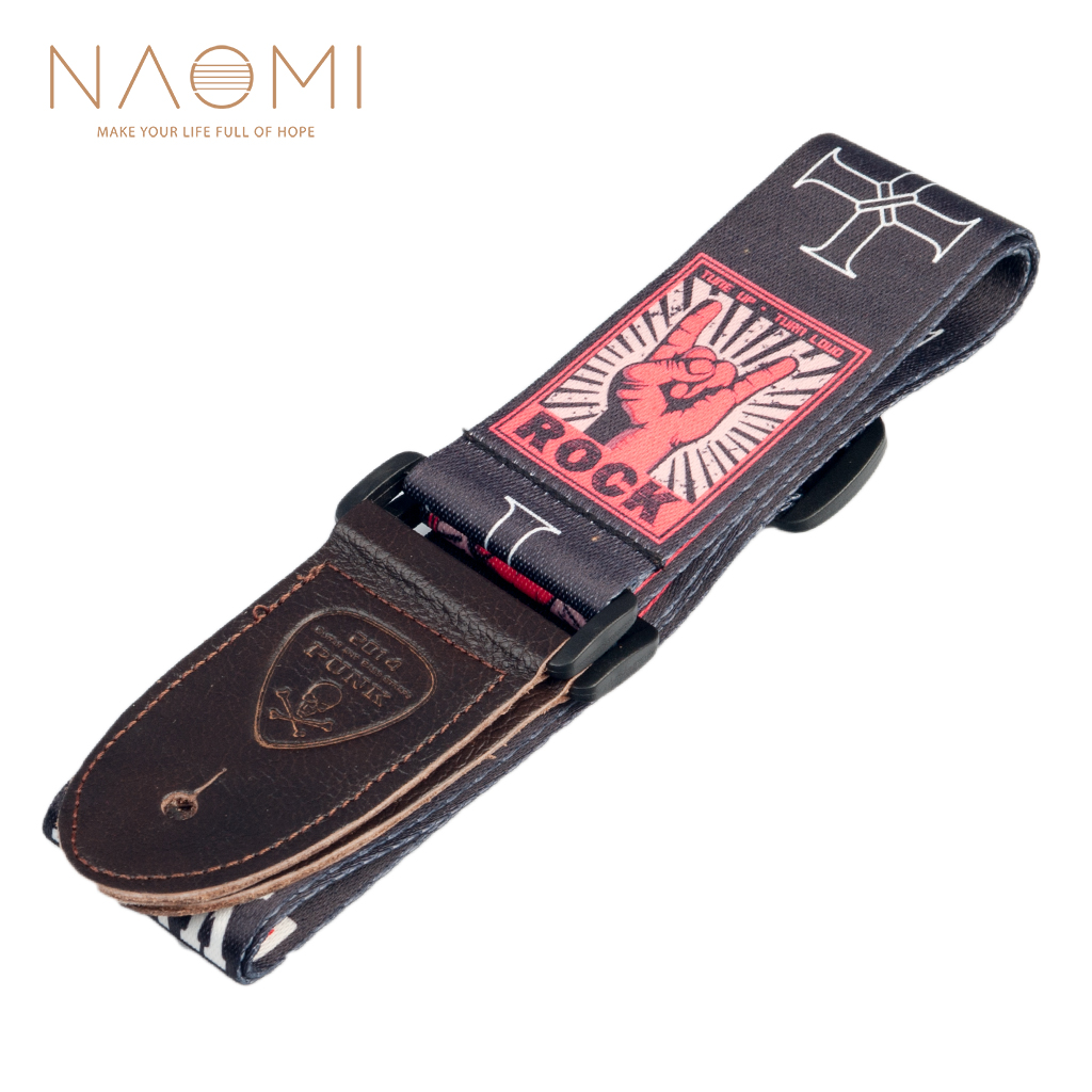 NAOMI Guitar Strap Adjustable Guitar Strap Shoulder Belt For Acoustic/ Electric Guitar Bass Guitar Parts Accessories