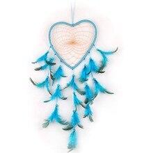 купить 1pc Indian Dream Catcher Feathers Handmade Car Home Hanging Decoration Ornament Circular Heart Net Dreamcatcher дешево