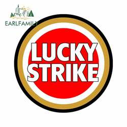 EARLFAMILY 13cm x 13cm for Lucky Strike Funny Car Stickers Vinyl Car Sticker Fashion Motorcycle Bumper Window Decal
