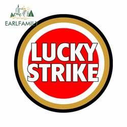EARLFAMILY 13cm x 13cm for Lucky Strike Funny Car Stickers Vinyl Car Sticker Fashion Motorcycle Bumper Window Decal