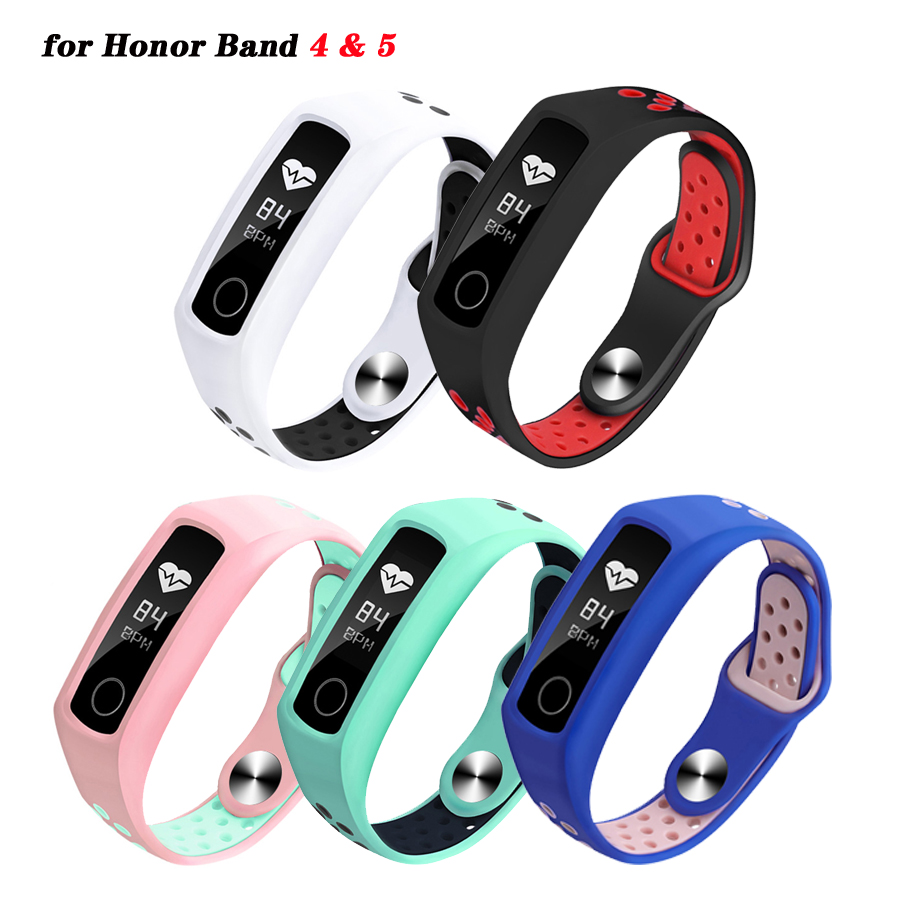 Silicone Bracelet For Honor Band 4 5 Sport Wrist Strap For Huawei Honor Band 4 Standard/NFC Replacement Band For Honor Band 5