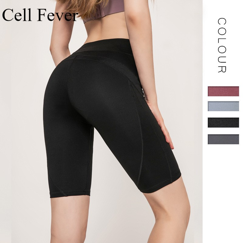 Sports Shorts Women Tight Stretch Gym Seamless Leggings Quick Dry High Waist Running Training Fitness Workout Shorts Sportswear