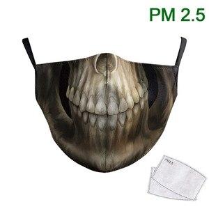 Маска из ткани для лица с принтом черепа, антимоющиеся маски для взрослых, многоразовый Регулируемый Чехол с принтом Grim Reaper
