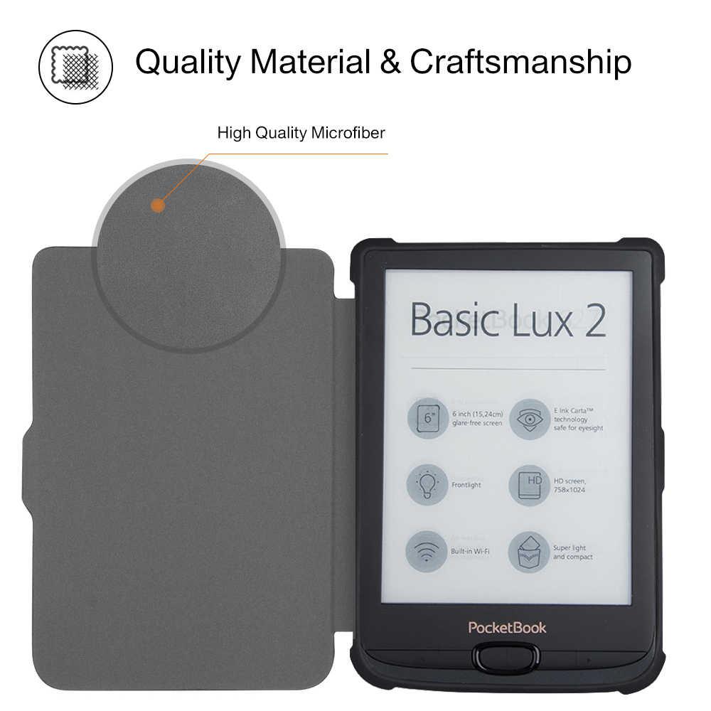 مشوا غطاء حالة ل الجيب 616/627/632 E-قارئ غطاء حالة ل الجيب الأساسية لوكس 2 /اللمس لوكس/اللمس HD 3 + هدية
