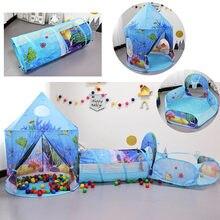 Детская палатка 3 шт/компл детский туннель для ползания Портативная