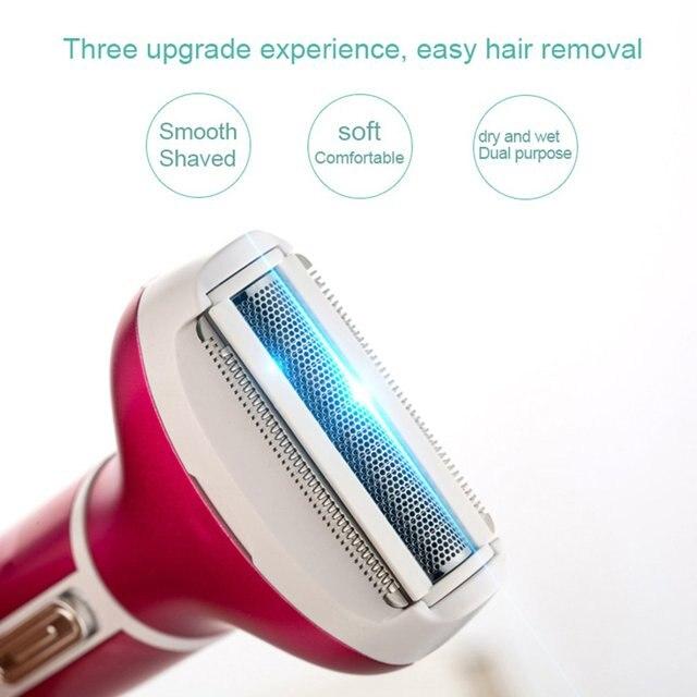 Multifunctional 4 in 1 Hair Remover Electric Epilator Hair Shaver Painless Portable USB Epilator Nose Beard Eyebrow Trimmer 3