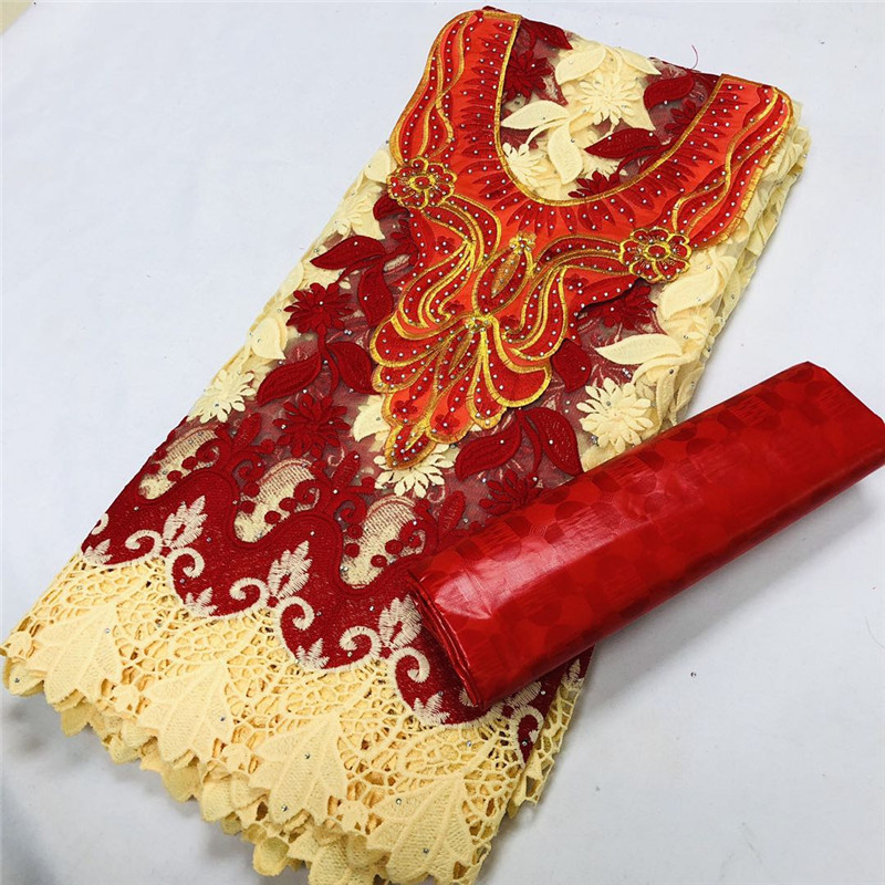 2,5 y кружево + 2,5 y парфюм Bazin Brode богатые + вышивка воротника африканские ткани тюль шнур кружево популярный Дубай Стиль XM10302