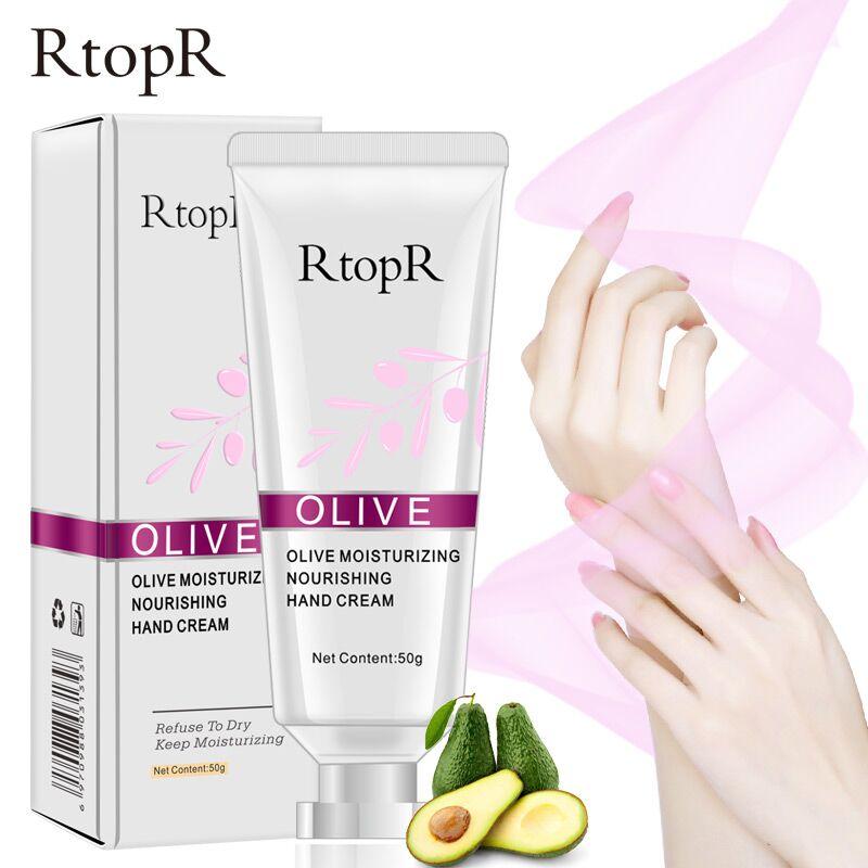 RtopR Olive Oil Serum Repair Hand Cream Nourishing Hand Care Anti Chapping Anti Aging Moisturizing Whitening Hand Cream