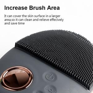 Image 3 - Yüz temizleme fırçası ultrasonik yüz temizleme fırçası elektrikli kablosuz yüz fırça cilt yüz masajı