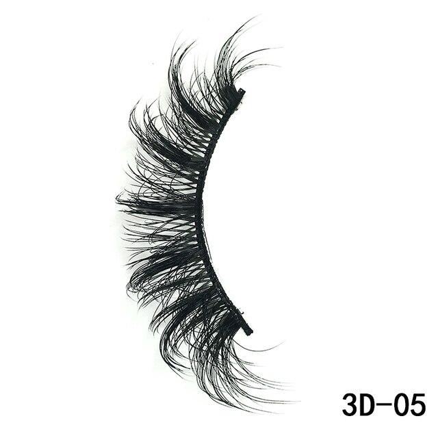 5 Pairs 3D Mink Hair False Eyelashes Natural/Thick Long Eye Lashes Wispy Makeup Beauty Extension Silk Eyelashes Tools Beauty & Health