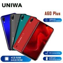 4G cep telefonu Android 10 4080mAh cep telefonu Blackview A60 artı Smartphone dört çekirdekli 4GB + 64GB su damlası ekran yüz kimlik