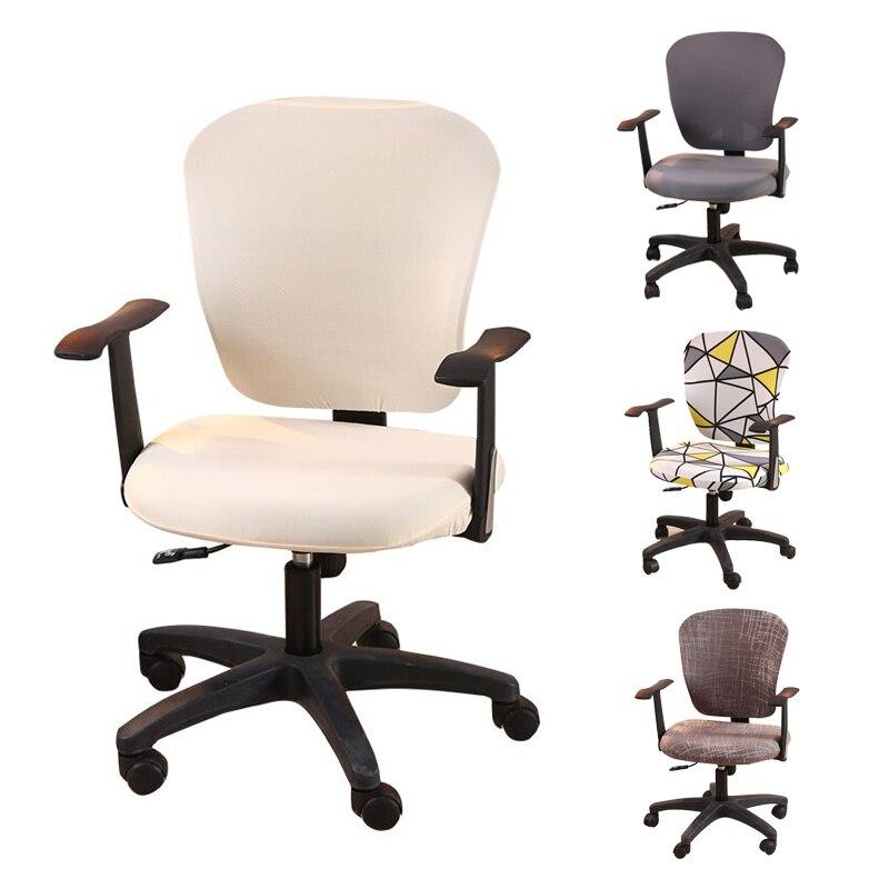 Spandex ordinateur chaise couvre Spandex élastique housse bras chaise siège housse ordinateur siège housse amovible housse de chaise