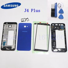 SAMSUNG Galaxy J4 plus 2018 J4+ J415 J415F Full Housing LCD panel Cover Middle Frame Front Outer Lens J4+ Battery door Case