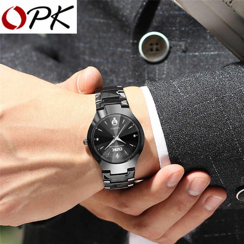 Opk Watch Pria Mewah Gaun Jam Tangan Bisnis Kasual Tanggal Tahan Air Luminous Silver Jam Tangan Hadiah untuk Pria 8105