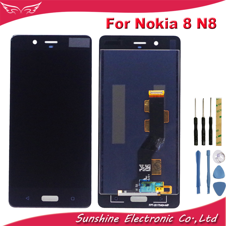 LCD 5.3'' LCD Display For <font><b>Nokia</b></font> 8 N8 <font><b>TA</b></font>-<font><b>1004</b></font> <font><b>TA</b></font>-1052 <font><b>TA</b></font>-1012 LCD Display Touch Screen Sensor Complete Assembly For <font><b>Nokia</b></font> 8 LCD image