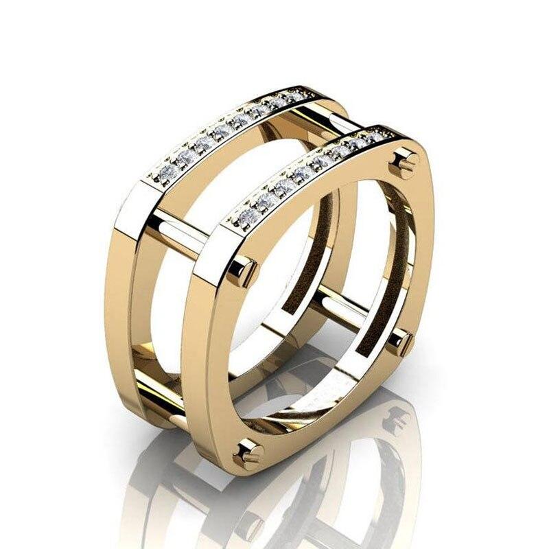 Wukalo/Новинка; Лидер продаж; кольца для девочек из циркона; знаменитый дизайнер; милый маленький CZ Сверкающий Круглый камень; комплект свадебн...