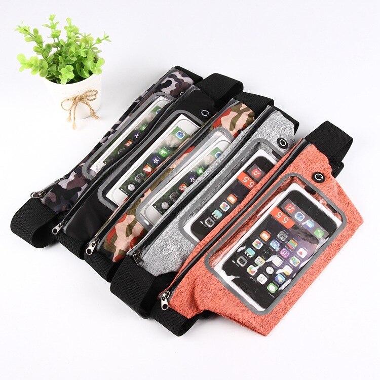 Outdoor Sports Mobile Phone Waist Bag Multi-functional Waterproof Bag Men And Women Running Casual-Touch Screen Belt