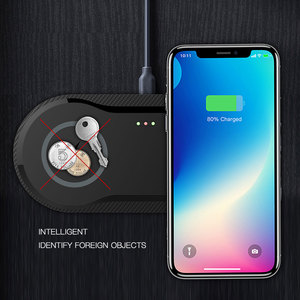 Image 2 - Desktop 10W Dual Wireless Charger for iPhone 11 Pro Max X XS Max XR Fast Wireless Charging Board for Samsung Galaxy Note 9