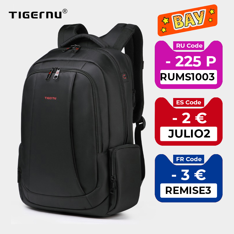 Tigernu Anti Theft Nylon 27L Men 15.6 inch Laptop Backpacks School Fashion Travel Backpacking Backpack Male Backpack For Laptop backpack for teenager tigernu 15backpack fashion - AliExpress