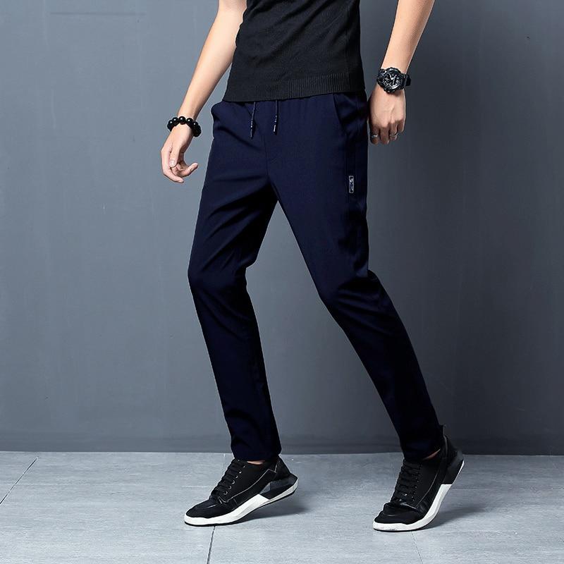 2021 New Men Pants Joggers Fitness Casual Quick Dry Outdoor Sweatpants Breathable Slim Elasticity Trouser Plus Size Men Pants 6