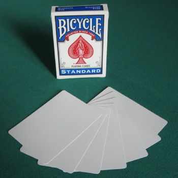 1 Deck Bicycle Double Blank Playing Cards Gaff Magic Cards Poker Special Props Close Up Stage Magic Trick for Magician Free Ship цена 2017