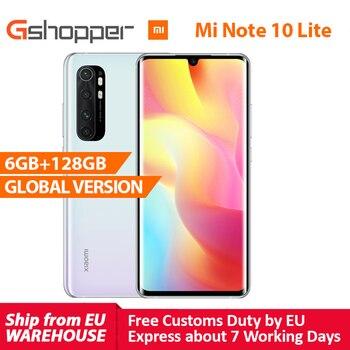 Купить В наличии глобальная версия Xiaomi Mi Note 10 Lite 6 ГБ 128 ГБ Snapdragon 730G 64MP AI Quad Camera MIUI 11 5260 мАч аккумулятор NFC