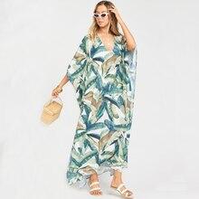 2020 schnell trocknend Böhmischen Frauen Sommer Strand Kleid Schwimmen Wear Cover Up Tunika Sexy Tiefe Kaftan Strand Bikini Abdeckung ups pareo Q930