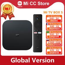 Globalna wersja Xiaomi Mi TV Box S 4K Ultra HD Android TV 9 0 HDR 2GB 8GB WiFi Google obsada Netflix Smart Mi Box S odtwarzacz multimedialny tanie tanio Brak CN (pochodzenie) Cortex-A53 Quad-core 64bit 8 GB eMMC 2G DDR3 802 11n 2 4GHz 5 GHz 147g 1x USB 2 0 Android 9 0 DC 5 V 2A