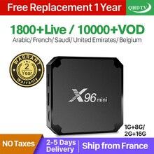 X96Mini QHD tv 1 год IP tv Франция Android 7,1 1+ 8G 4K IP tv Франция арабский Нидерланды Бельгия Италия подписка IP tv кодовая коробка