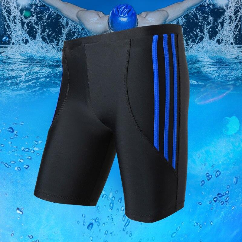 2019 Hot Selling MEN'S Swimming Trunks Sports Fitness Large Size MEN'S Swimming Trunks Good Fabric Short Swimming Trunks