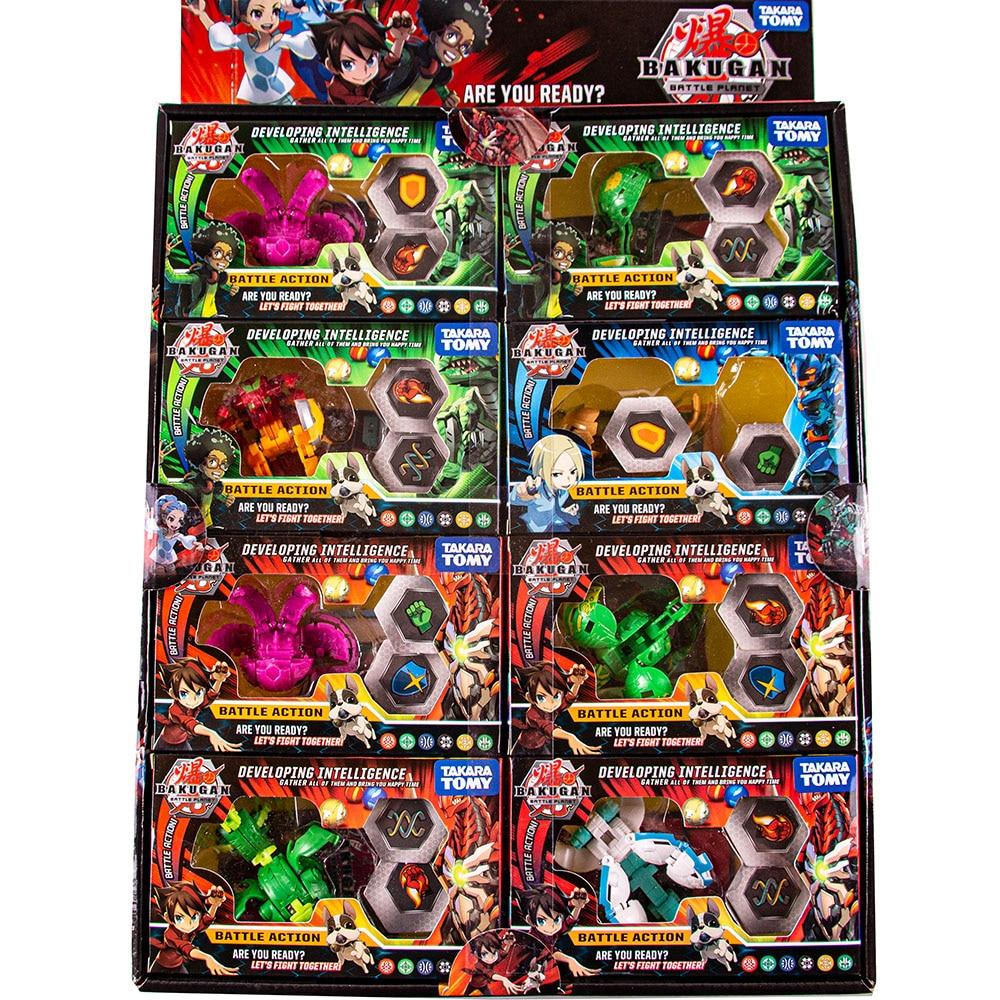 TOMY Jouets de Combat BAKUGAN, 8 Pieces/lot, Toupie Rafale Bayblade Metal Fusion et Monster Ball Gyro Atletiek Toys