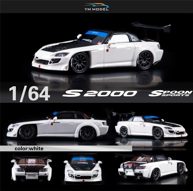 YM Model 1:64 Honda S2000 Spoon Sports Resin Model Car