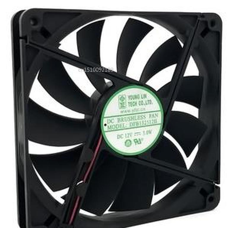 For 13525 DFB132512H 12V 135*135*25mm 13.5CM 2 Line Chassis Cooling Fan Free Shipping