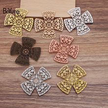 BoYuTe (30 Pieces/Lot) 51MM Metal Brass Filigree Flower Findings Diy Hand Made Jewelry Materials Wholesale(China)
