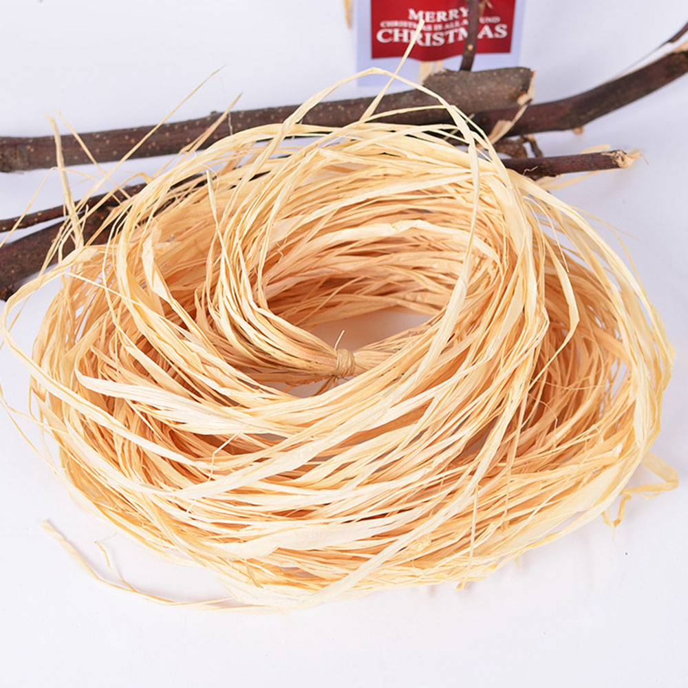 Natural Lafite Hay Strap Creative Candy Box Hi Honey Baking Pastry Candy Souvenir Packaging Rope Decoration Gift
