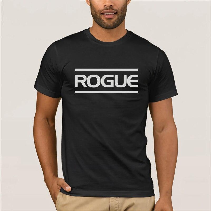 2019 Latest Popular Men's Casual T-shirt Vintage Rogue Fitness International Fashion Printed Men's T-Shirt Short Sleeve