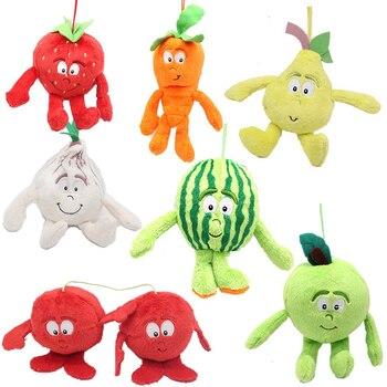 Различные выбранные стили новых фруктов овощей клубника груша арбуз Зеленое Яблоко Вишня морковь лук мягкая плюшевая игрушка кукла