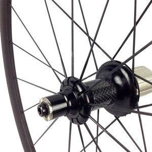 Image 2 - Carbon Road Bikeล้อโปรไฟล์ 35/38/45/50/55/75 มม.ภายในสำหรับtubeless 700Cจักรยานล้อดึงตรงR36 Hub