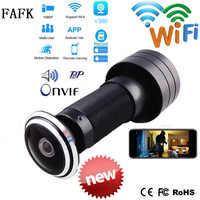 V380 wizjer Hole Security 1080P HD 1.78mm obiektyw szerokokątny FishEye CCTV Network Mini wizjer do drzwi WifI kamera IP P2P TF Card
