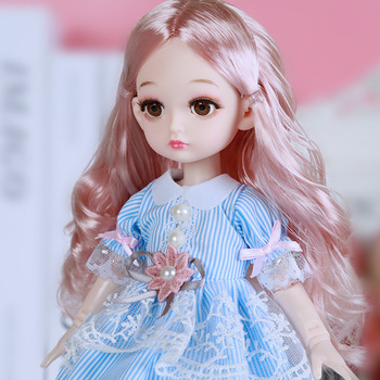 New 1/6 BJD Doll beautiful Hair Movable Joint Bjd Princess Doll Dolls 32cm Doll with Fashion Clothes for Girls Toys fashion sd bjd doll girls doll with clothes blue eyes 18 inch cute princess doll toys for children s new year gift