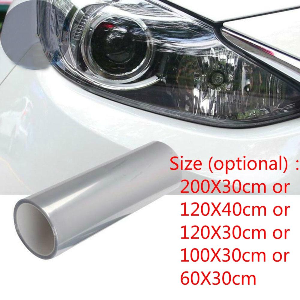 1 Roll Car Transparent Light Protector Film Bumper Hood Paint Protection Headlight Protective Film Vinyl Wrap