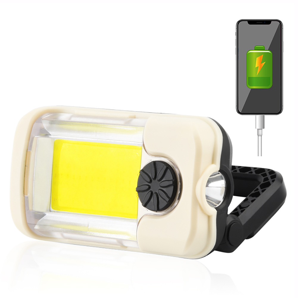 Car LED Inspection Lamp Emergency Light 8000Lm Work Light USB Rechargeable Power Output Folding Magnetic Flashlight