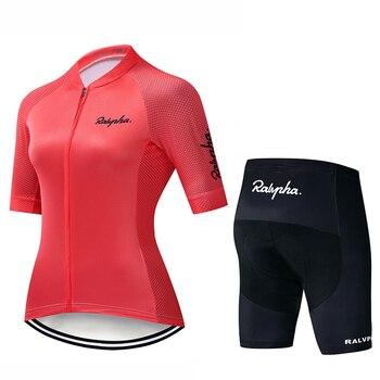 Raphaful-Ropa de Ciclismo del equipo profesional para Mujer, Conjunto de Jersey de...