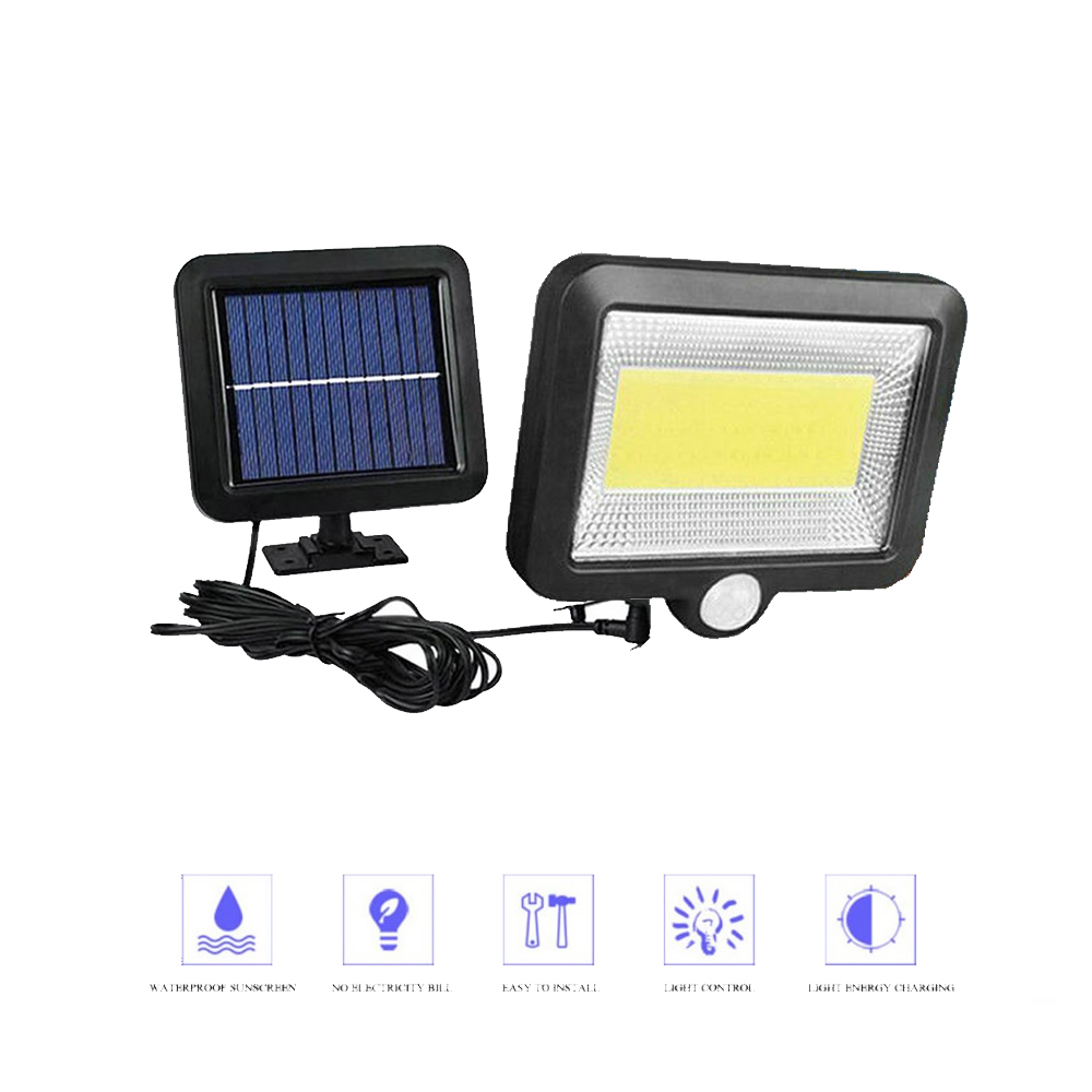 56/30 LEDs Solar Wall Lamp Wireless PIR Motion Sensor Solar Night Light For Street Garden Patio Emergency Security Lighting Spli