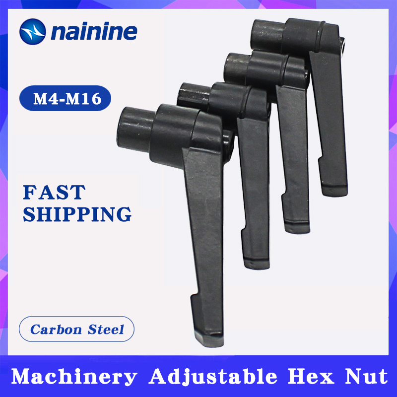2Pcs M4 M5 M6 M8 M10 M12 M14 M16 Clamping Lever Machinery Adjustable Handle Locking External Male Thread Knob Hex nut A011